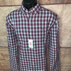 Vineyard vines plaid shirt button down men's large